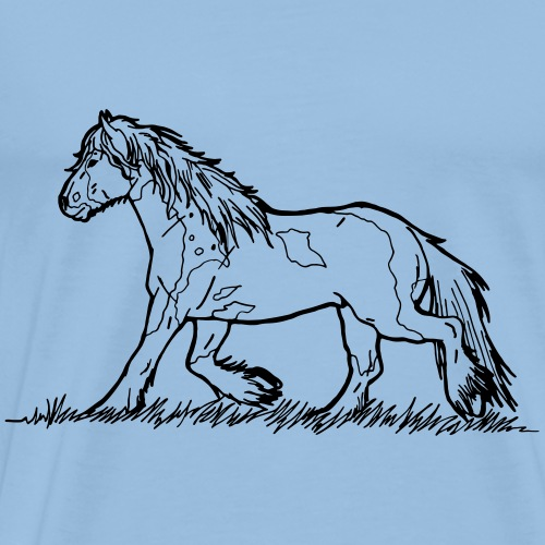 Tinker Gypsy Vanner Cheval Heavyblood Pony Trot - T-shirt Premium Homme