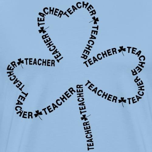 Teacher Text Shamrock - Men's Premium T-Shirt