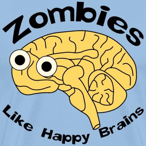 Zombies Happy Brain - Men's Premium T-Shirt