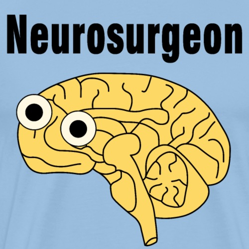 Neurosurgeon Brain - Men's Premium T-Shirt