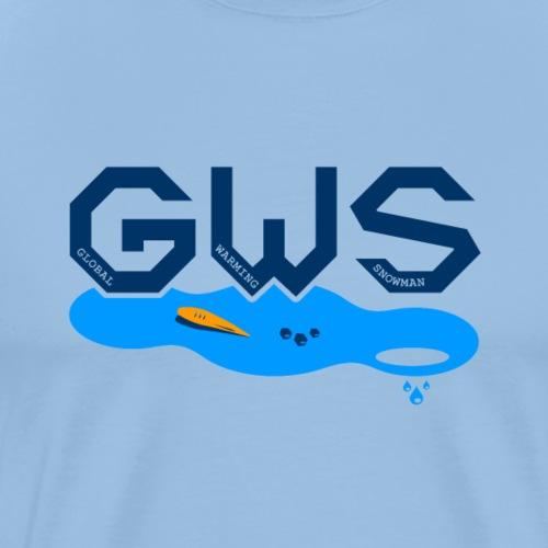 Global Warming Snowman - T-shirt Premium Homme