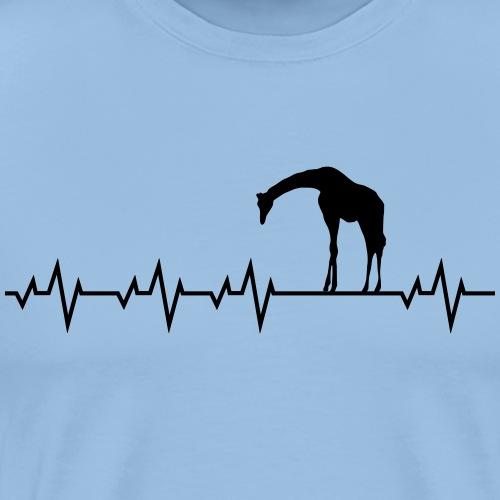 Herzschlag Giraffe jirafa giraffa - Männer Premium T-Shirt