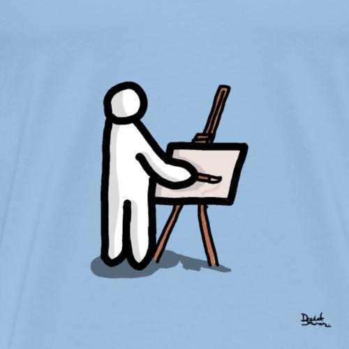 white man pittore - Maglietta Premium da uomo