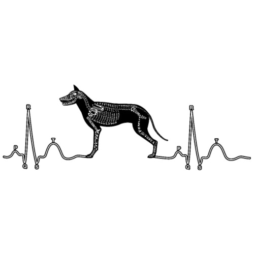 EKG mit Hund - Männer Premium T-Shirt