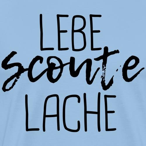 Lebe Scoute Lache Lettering Brush - Farbe wählbar - Männer Premium T-Shirt