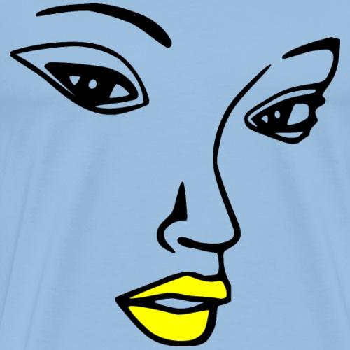 Pretty woman face - Men's Premium T-Shirt