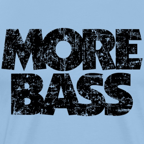 More Bass (Vintage/Schwarz) Bassist Bassisten - Männer Premium T-Shirt