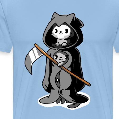 Trois chats noirs déguisés en mort - T-shirt Premium Homme