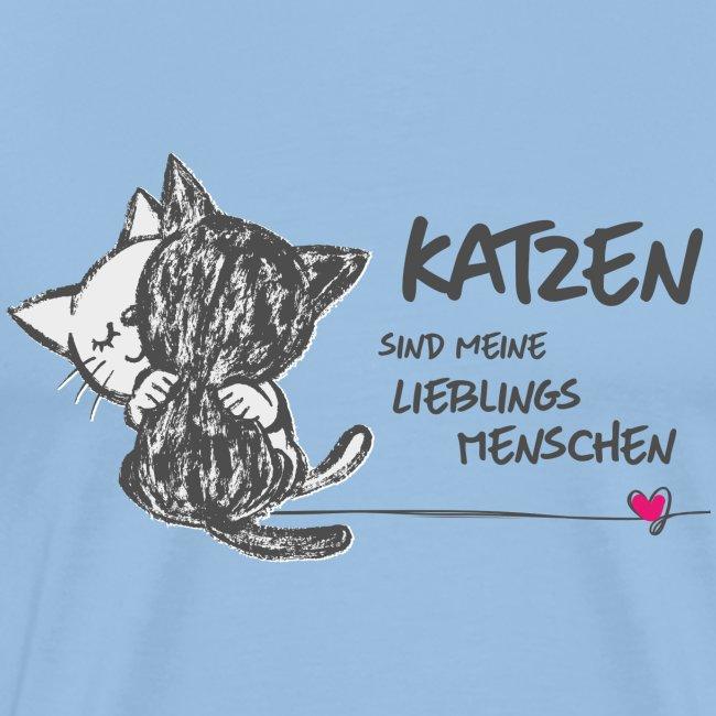 Vorschau: Katzen Lieblingsmenschen - Männer Premium T-Shirt
