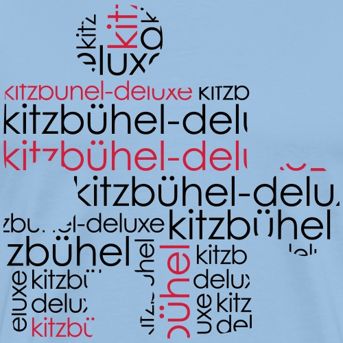 Kitzbühel Deluxe Puzzle Motiv - Männer Premium T-Shirt