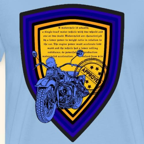 Motorrad Beschreibung Kollektion Blau Gelb