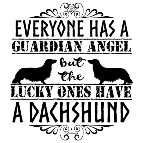 Dachshund LH Angel3 - Miesten premium t-paita