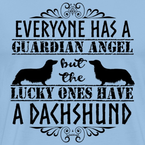 Dachshund LH Angel3 - Men's Premium T-Shirt