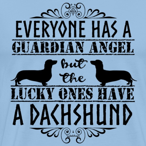 Dachshund SH Angels3 - Men's Premium T-Shirt