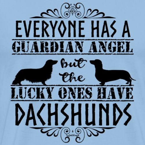Dachshund SH LH Angels - Men's Premium T-Shirt