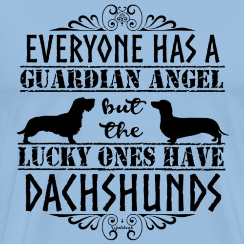 Dachshund WH SH Angels - Men's Premium T-Shirt