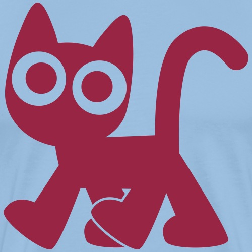 Cute Walking Cartoon Cat by Cheerful Madness!! - Men's Premium T-Shirt