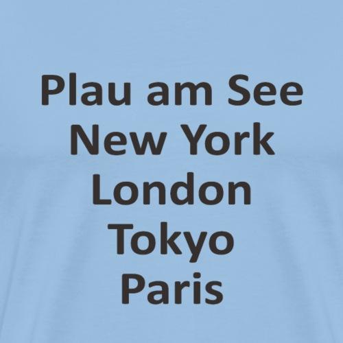 plau-ny-tokio-black - Männer Premium T-Shirt