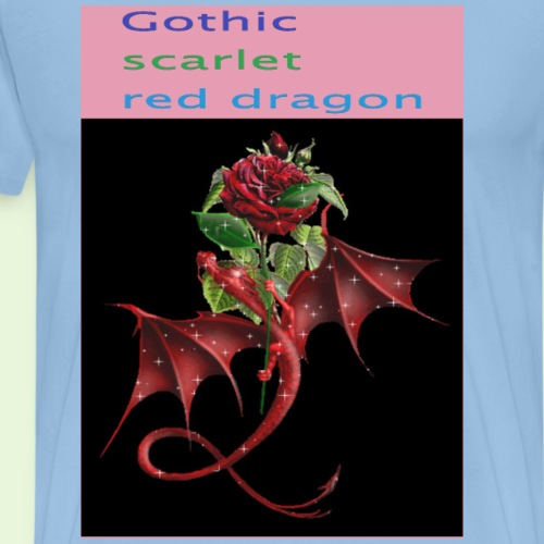 Gothic Red Dragon - T-shirt Premium Homme