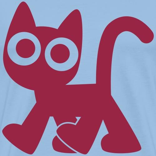 Cute Walking Cartoon Cat by Cheerful Madness!! - Men's Premium T-Shirt