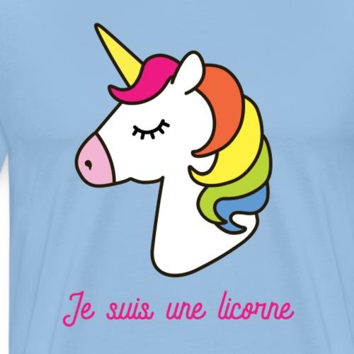Je suis une licorne - T-shirt Premium Homme