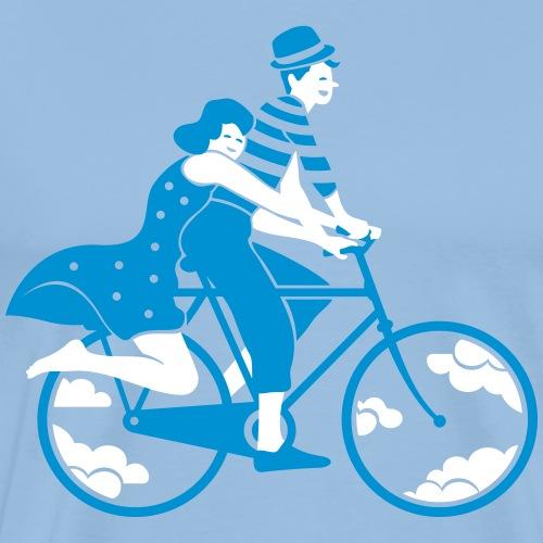 Couple amoureux en vélo - T-shirt Premium Homme