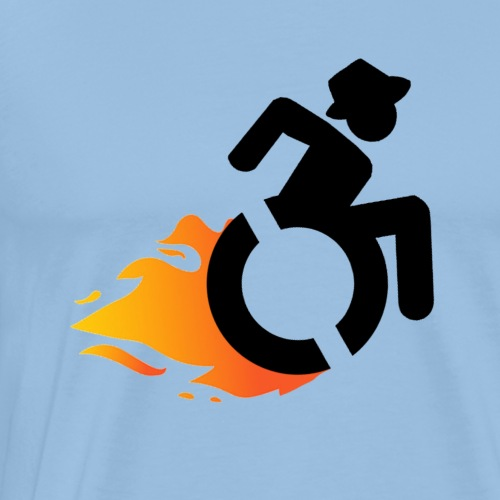 Flamewheelchairmanblack - Mannen Premium T-shirt