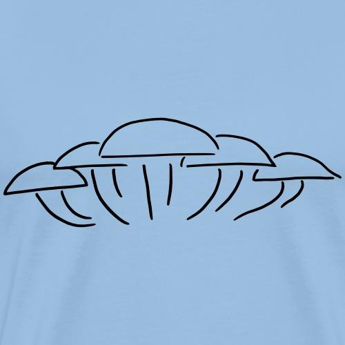 Pilzgruppe - Eine Gruppe Pilze - Männer Premium T-Shirt