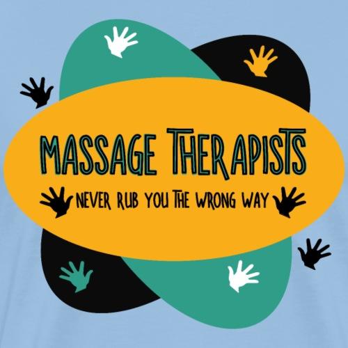 Massage Therapists Hands Rub Colorful - Men's Premium T-Shirt