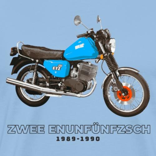 Zwee Enunfünfzsch ETZ 250 DDR Motorrad - Männer Premium T-Shirt