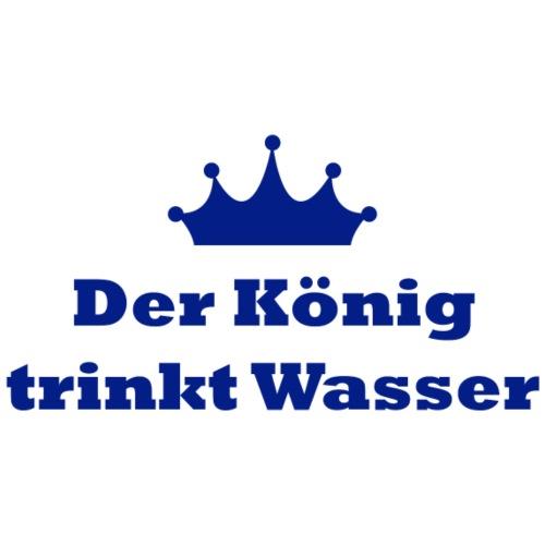 Statement | Der König trinkt Wasser | blau
