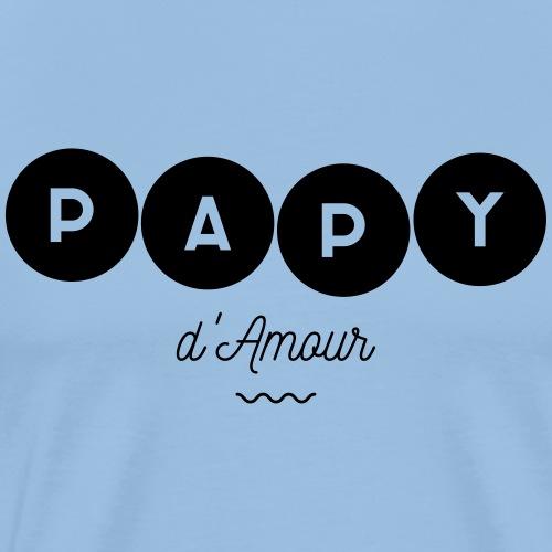 Papy d amour - T-shirt Premium Homme