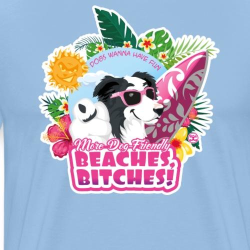 More Dog-Friendly Beaches - Men's Premium T-Shirt
