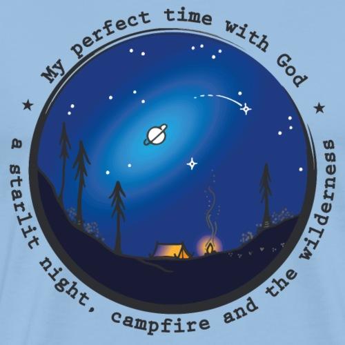 Sany O. Jesus Camping Star Wild Perfect Time God - Männer Premium T-Shirt