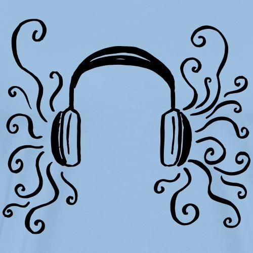 Musik Kopfhörer Wirbel Sound Geschenk Lustig Indie - T-shirt Premium Homme