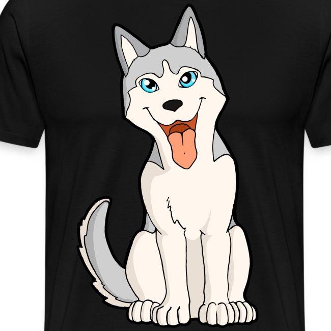Husky grigio occhi azzurri