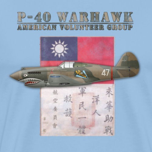 P-40 Warhawk Flying Tiger American Volunteer Group - Men's Premium T-Shirt
