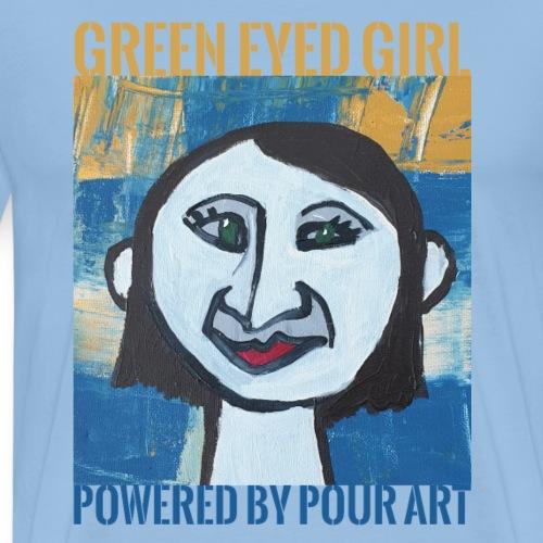 Green eyed girl - Herre premium T-shirt
