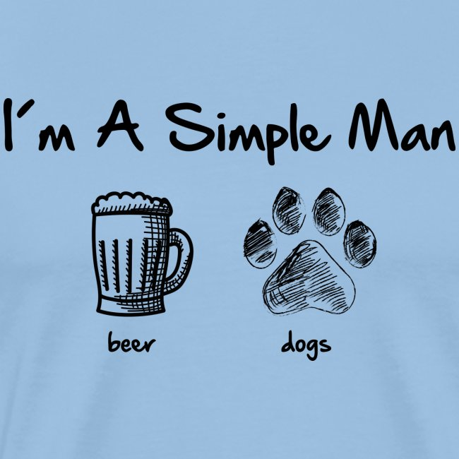simple man dogs beer - Männer Premium T-Shirt