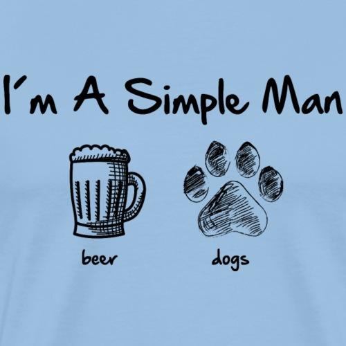 simple man dogs beer - Männer Premium T-Shirt
