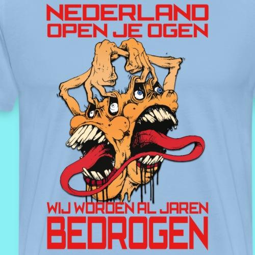 NL open je ogen - Mannen Premium T-shirt