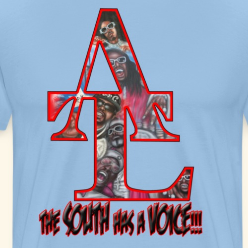 the_south_has_a_voice_red - Männer Premium T-Shirt