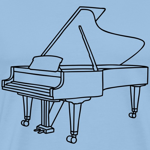 Klavier Konzertflügel - Männer Premium T-Shirt