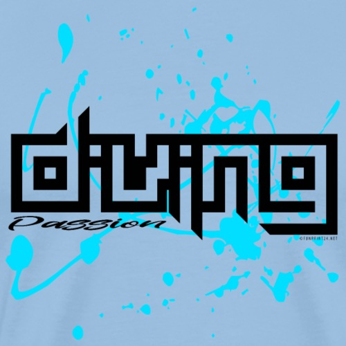 DIVING PASSION Diver textiles, gifts, products - Miesten premium t-paita