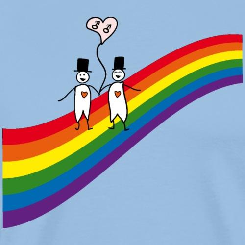 Männer unterm Regenbogen - Männer Premium T-Shirt