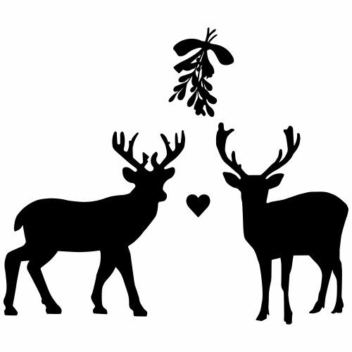 Oh deer! A mistletoe! - Mannen Premium T-shirt