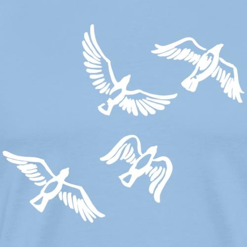 Oiseau essaim Idée de cadeau De la Colombe de la Paix Drôle - T-shirt Premium Homme