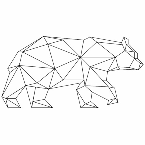 ours géométrique - T-shirt Premium Homme