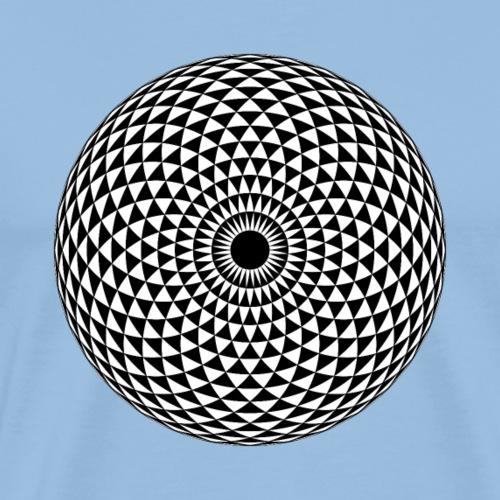 Geometric Mandala eye in black - Men's Premium T-Shirt