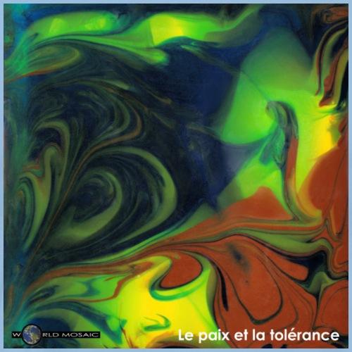 TIAN GREEN Mosaik CH080 - Le paix et la toerance - Männer Premium T-Shirt